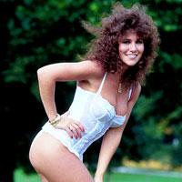 Glamour model Linda Lusardi in the 1980s