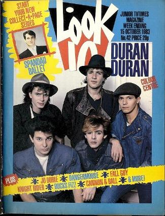 Duran Duran on the cover of Look-In magazine October 1983